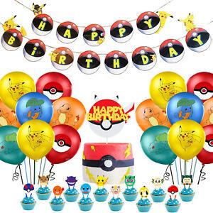Pokemon Pikachu Happy Birthday Party Set Party Supplies Decoration