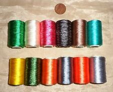 SALE 12 SMALL SPOOLS MACHINE EMBROIDERY ART SILK RAYON THREAD 270 YDS H52 #025Q5