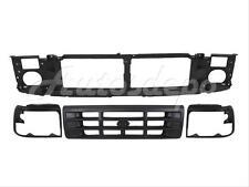 For 1992-1996 F150 F250 Bronco Grille Header Panel Headligth Door Bezel Raw Blk