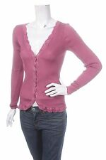 ROSEMUNDE COPENHAGEN WOMEN VIOLET RED PINK CARDIGAN TOP LACE Size S SILK COTTON