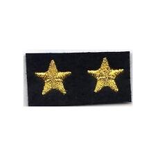 [Militaria] Coppia Stelle ricamate - Stellette oro su fondo nero - mm 15