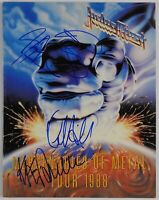 Judas Priest JSA Signed Autograph Original Concert Program Mercenaires Of Metal
