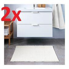 2x IKEA Toftbo Non-slip Microfibre Bathroom Bath Mat Bathmat Rug 60 X 90cm White