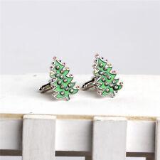 Cufflinks Christmas Tree Cuffs Buckle Snowman Series Ornaments Decor CO