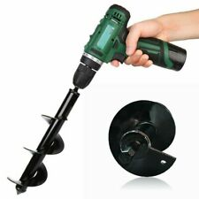"""12"""" Earth Auger Drill Bit Replacement Electric Garden Planting Auger Spiral"""