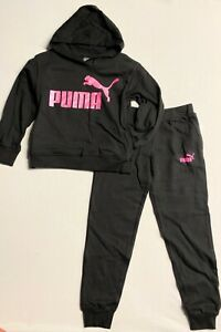 Puma Big Girls 2 Pcs Set Hoodie and Joggers (Ages 7-16)