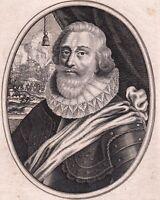 Portrait XVIIe Jacques Nompar de Caumont Maréchal Duc De La Force  Moncornet