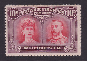 Rhodesia. 1910-13. 10d, perf 13. Fine mounted mint.