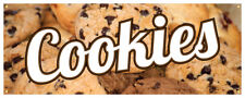 Cookies Banner Hot Fresh Baked Chocolate Chip Concession Stand Sign 36x96