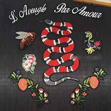 Set of 8 Snake Bee Floral Embroidered Sew On Jacket Patch DIY Clothing Applique