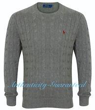 Ralph Lauren Men's Crew/Zip Cable Knit Cotton Jumper Various Colours RRP £119