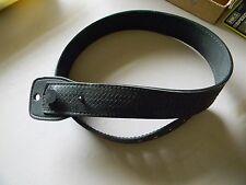 Cobra Gun Skin Gun Belt- Black Leather Basket Weave- No Buckle