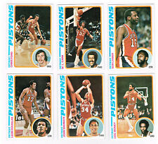 1978 Topps Basketball DETROIT PISTONS 6 cards lot BOB LANIER FORD CARR SHUMATE
