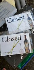 2 x Monsoon Valley Thai Wine Closed Signs.