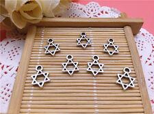 Wholesale 20pcs Tibet Silver  Star of David Charm Pendant Beaded Jewelry Diy 93