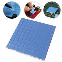Blue GPU CPU Heatsink Cooling Thermal Conductive Silicone Pad 100mmx100mmx1mm