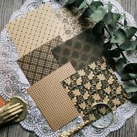 6stk Vintage Blume Textur Papier Hintergrund DIY Scrapbooking Album Card Making
