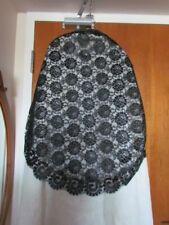 Spanish Black Lace Mantilla Floral Vintage Scarf Mourning Catholic Church veil