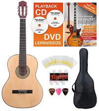 Set de Guitare Classique Gaucher 4/4 Housse 6 Cordes Nylon Plectrums Pitchpipe
