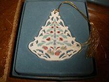 Lenox flat bell ornament in box