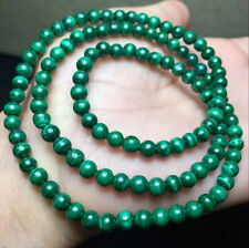 "6mm Green Malachite Gemstone Round Loose Beads 15"" AAA"