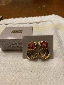 Avon Tropical Splendor Pierced Earrings with surgical steel posts