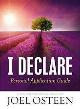 I Declare Personal Application Guide Hardcover by Joel Osteen - Brand New