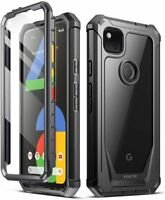 Poetic For Google Pixel 4A Case, Dual Layer Shockproof Protective Cover Black