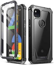 Google Pixel 4A Case,Poetic Hybrid Shockproof Bumper Protective Cover Black