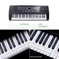 Piano Keyboard Music Note Learn Stickers for 88/61/54/49/31 Keys Do-Re-Mi-Fa
