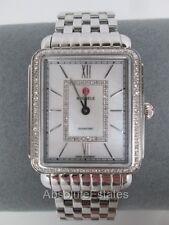 NEW Michele Deco II Silver Diamond Bezel Stainless Steel Watch MW06X01A1963 NIB