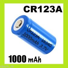 ★ 1 PILES RECHARGEABLE 1000 mAh CR123 CR123A 16340 17345 LITHIUM + CHARGEUR ★