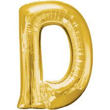 Amscan 3295301 86 4 Buchstabe D super Shape Gold Folienballon