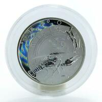 Cameroon 500 francs Cancer Zodiac signs series hologram silver coin 2010
