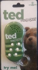 TED IN YOUR POCKET TALKING KEY FOB  6 Phrases From The Hit Film 2012