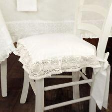 Cuscino per sedia Shabby Chic Madame Collection 40 x 40 Colore Avorio Chiaro