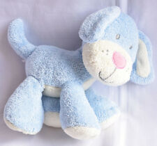 MOTHERCARE BLUE PUPPY DOG WITH PINK NOSE BABY SOFT TOY USED VGC NEXT DAY POST