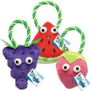 Happy Fruit Plush Rope Toy For Dogs Strawberry Watermelon Grape OR All 3 Toys