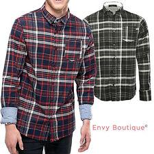 Camisas y polos de hombre de manga larga de color principal rojo 100% algodón