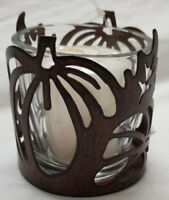 Yankee Candle Votive Holder BRONZE PUMPKIN FALL & 2 SURPRISE Votive Candles