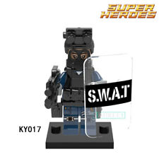 MINI FIGURINES Super Heroes - Militaire Moderne Police avec Bouclier Arme(KY017)