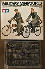 TAMIYA 35240 - GERMAN SOLDIERS WITH BICYCLES - 1/35 KIT NUOVO