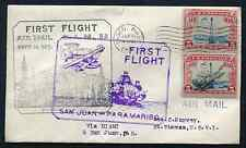 VIRGIN ISLANDS: (14416) FFC/double First Flight to St. Thomas cancel/cover