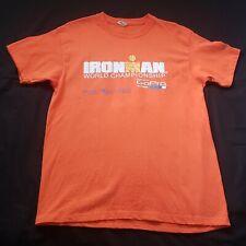 IronMan Kona Hawaii T-Shirt  Orange Large  cotton
