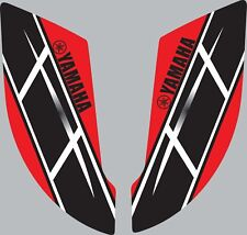 Graphics for 2003-2008 Yamaha YFZ450 YFZ 450 ATV rear fender stickers Retro Red