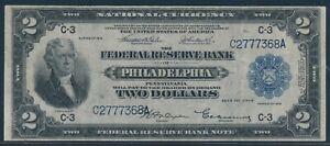FR754 $2 1918 FRBN -- PHILADELPHIA -- VF+ HW5422