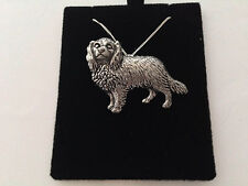 D7 Cav. King Charles on a 925 sterling silver Necklace Handmade 26 inch chain