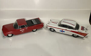 ERTL Diecast 1:24 1957 Chevy Cruiser and 1959 El Camino Coin BANK Wix lot
