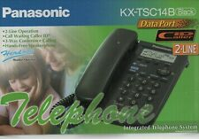 Panasonic KX-TSC14B Data Port 2-Line Telephone NEW Black