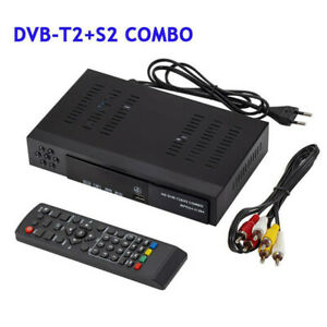 HD 1080P DVB-T2+S2 COMBO DVB-T2&DVB-S2 Digital Satellite TV BOX Receiver Durable